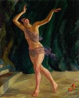 grace emerson, dancer by john french sloan