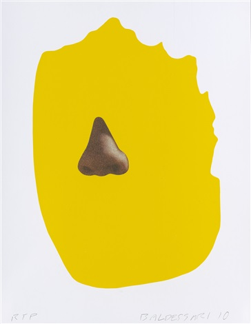 nose/silhouette: yellow by john baldessari