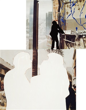 one and three persons (with two contexts - one chaotic) by john baldessari