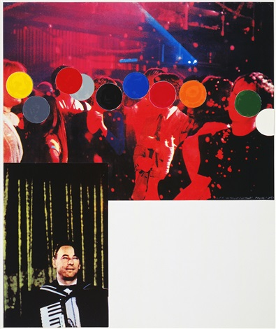 accordionist (with crowd) by john baldessari
