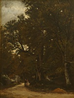 along the forest path by karl pierre daubigny