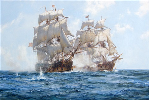 sea action by montague dawson
