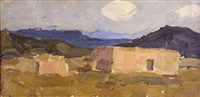adobes, new mexico by leon schulman gaspard