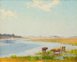 cows by the river by charles henry hayden