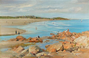 good harbor beach, gloucester by charles abel corwin