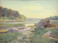 the footbridge - annisquam by george loftus noyes