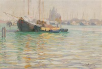 il redentore on the giudecca, venice by george loftus noyes