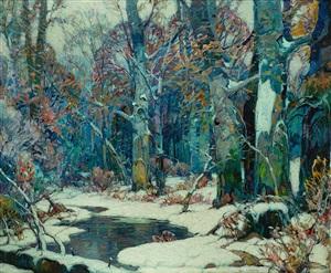 forest pool by john fabian carlson