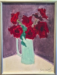 red roses by sally michel avery