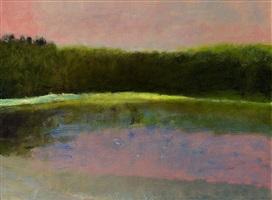 dawn at south pond by wolf kahn