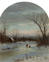 winter dream by george henry boughton