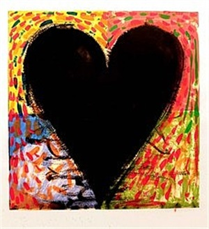 hand painting on the mandala by jim dine
