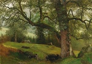 a trail through the trees by albert bierstadt
