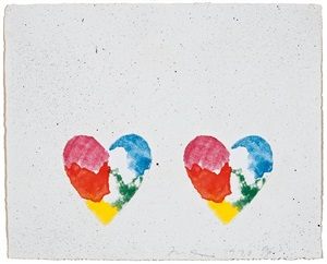 "untitled, from the ""dutch hearts"" portfolio by jim dine"