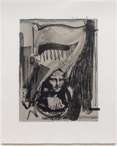 figure 7, from the black numerals series by jasper johns
