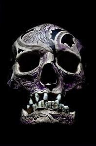crane face tatouage, violet by philippe pasqua