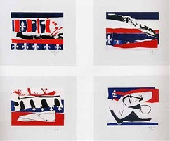 french revolution bicentennial suite ii, iii, iv, v by robert motherwell