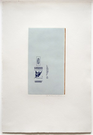 gauloise bleues (raw umber edge) by robert motherwell