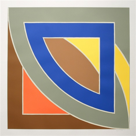 river of ponds i by frank stella