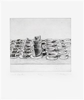 """lunch counter, from """"delights"""" by wayne thiebaud"""