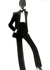ysl tuxedo for vogue italia by mats gustafson
