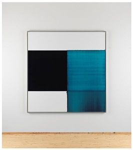 exposed painting blue lake by callum innes