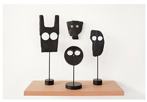 untitled (mask group i) by peter liversidge