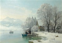 wintertag am see by anders andersen-lundby