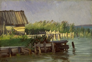 bootshaus in bernried, starnberger see by johann friedrich voltz