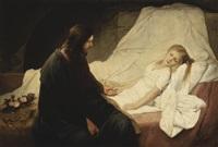 christus erweckt des jairus' töchterlein by gabriel von max
