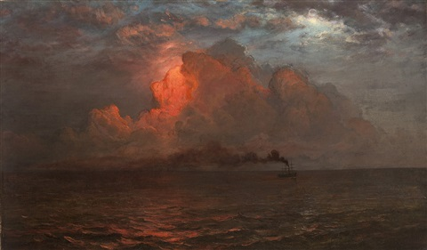 evening on the sea by frederic edwin church