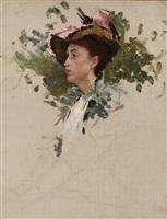 """study for """"portrait, crecy-en-brie, france"""" by frank vincent dumond"""
