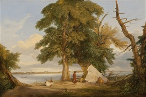 winnebago encampment by seth eastman