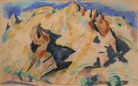new mexico landscape by marsden hartley