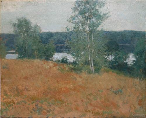 landscape by willard leroy metcalf