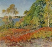birches by willard leroy metcalf