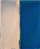 pink and blue by pat steir
