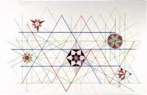 based on hexagon by monir shahroudy farmanfarmaian