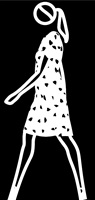 verity walking in dress. 2 by julian opie