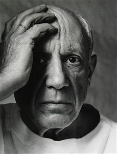 pablo picasso, vallauris, france by arnold newman