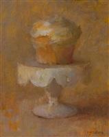 cupcake on pedestal by tina ingraham