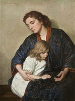 mother and child by lilla cabot perry