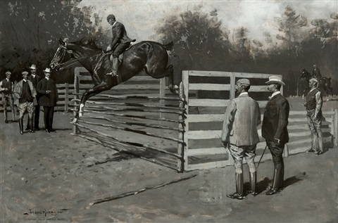 getting hunters in horse-show form by frederic remington