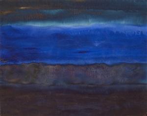 meditative landschaft (blau) by herbert beck