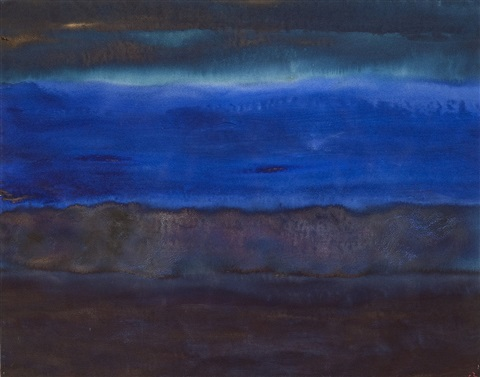 meditative landschaft (blau) by herbert beck