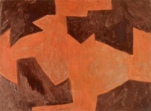 orange terre de sienne brûlée by serge poliakoff