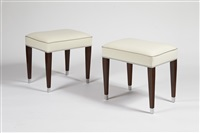 paire de tabourets / pair of stool by jacques adnet