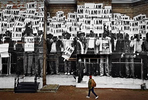 unframed, i am a man, washington dc, usa by jr