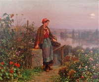 a thoughtful moment by daniel ridgway knight