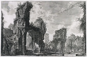 the baths of caracalla: interior of the central hall by giovanni battista piranesi